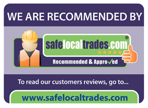 We are recommended and approved by Safe Local Trades